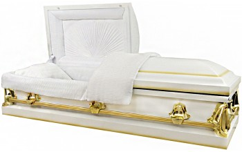 2013 - 20 Gauge (With Seal) White Casket w/ Gold Accents
