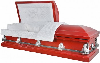8590 - 20 Gauge Steel Casket Red Finish (With Seal)